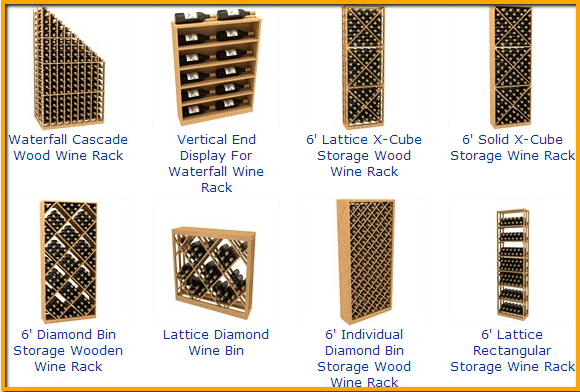 wood wine rack kits