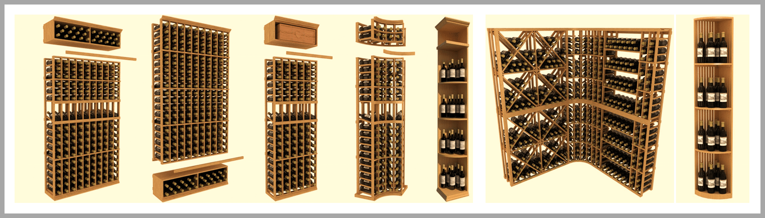 wooden wine racks from wine cellar specialists
