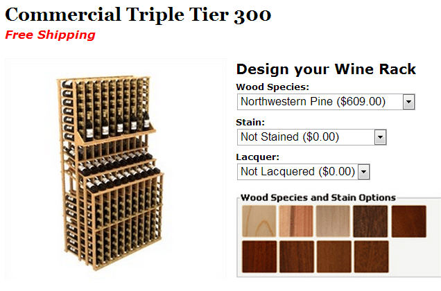 Commercial Wine Rack - Triple Tier