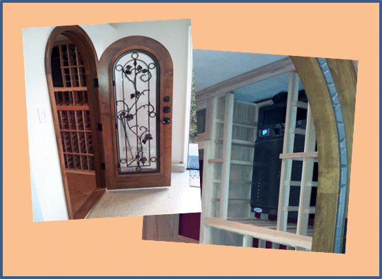 Wine Cellar Door and Cooling Unit