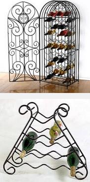 Wrought Iron Wine Racks