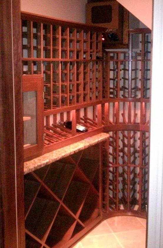 Mahogany Wine Racks - Baltimore Maryland Project