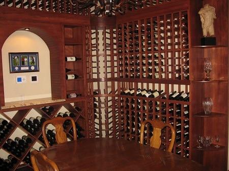 Mahogany Wine Racks - Lititz Pennsylvania Wine Cellar