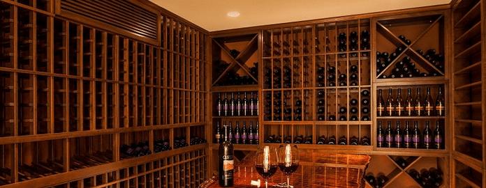 Mahogany Wine Cellar Racks California