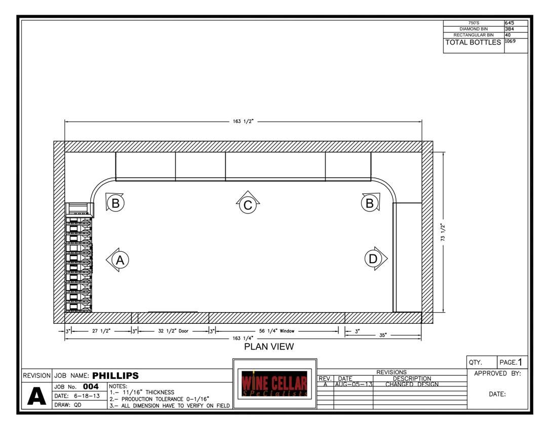 Philips wine cellar plan view